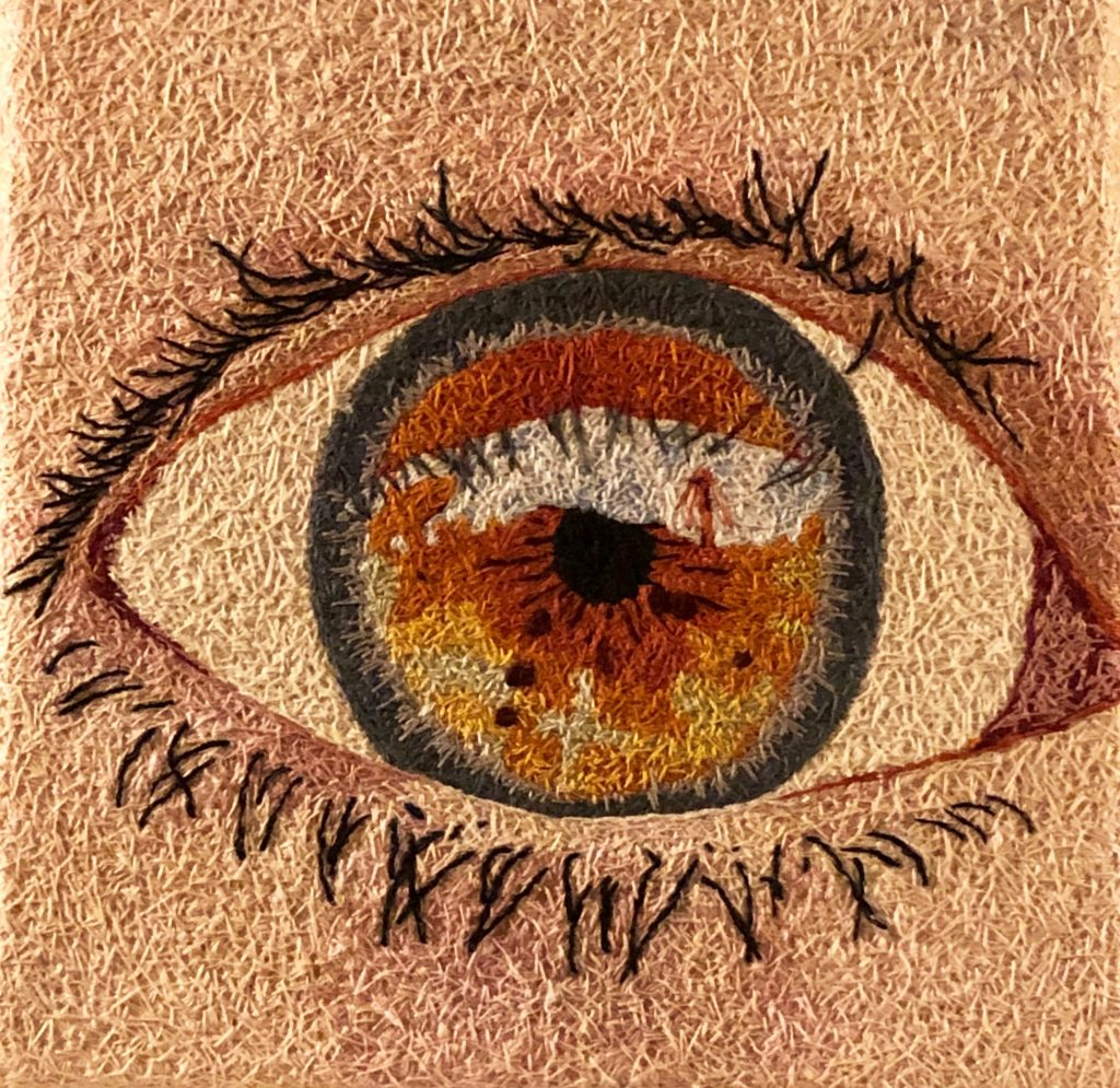 Hazel Eye - 10x10 inch embroidery