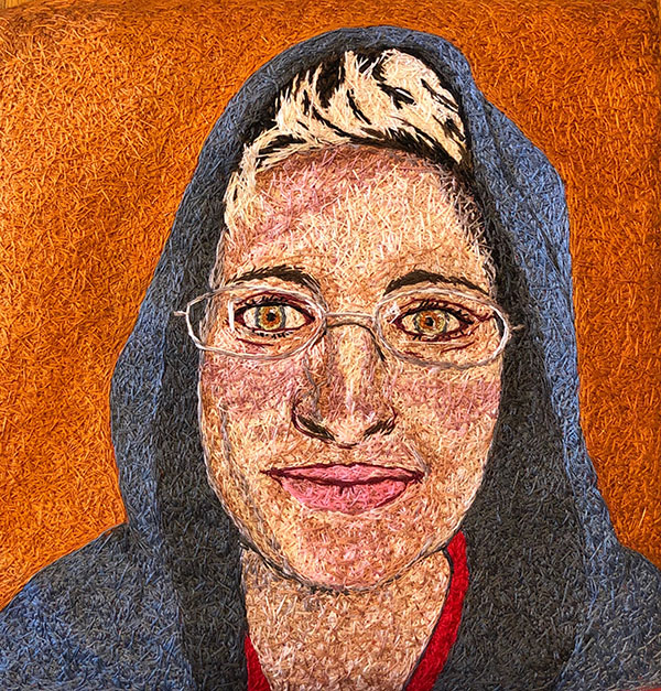 hand embroidered self portrait